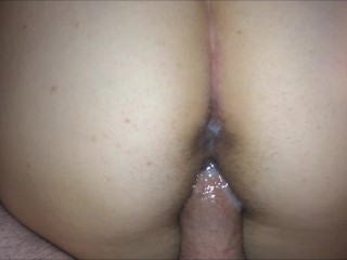 Hot Shy Asian Creampie after Doggystyle Quickie (Cum in and on Pussy!)