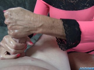 Up Close and personal Handjob with Jodi West