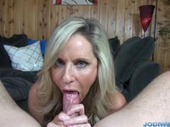 - Jodi West strokes you dick until you cum!/><br/>                         <span class=