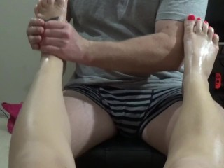 Foot Job teaser - for the full video go to maneyvids.com/aussiebeauty