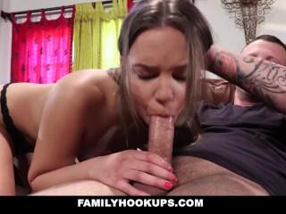 FamilyHookups- Sexy Teen Liza Rowe Caught Masturbating And Fucked