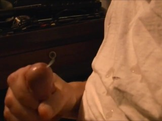 my fat thick cock cumming in slow motion messy cum