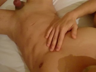 Im so horny I need to cum, shot straight into my eye! ouch.