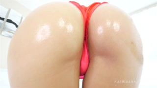 Slut Oiled Up FUCKED Hard and SWALLOWS Katie Banks