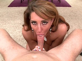 MILFGonzo Savannah Fox gives a sloppy pov bj with facial