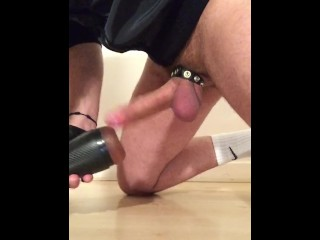 *Gas Mask*Cock Cage*Fleshlight*Cumshot **All in One Video**