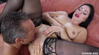 Lea Lexis Gets Set Up With Another Man Besides Her Husband  red lipstick lingerie cuckold mom cuck milf hardcore cock sucking brunette romanian fingering mother stockings big boobs natural tits bubble butt cuckedxxx