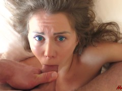 : SLEEPING BEAUTY WAKES UP FROM THE DICK IN HER MOUTH. MIA BANDINI