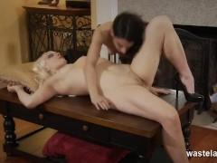 Blonde Femdom Eaten By Pretty Teen Submissive