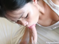 19yo Amateur Asian sucks foreign cock and balls