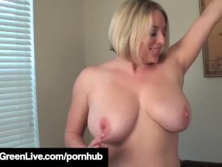 Maggie Green Peels Panties Off & Rubs Her Throbbing Wetness!