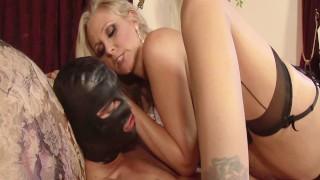 Blonde Busty Babe Julia Ann Dominates Masked Man