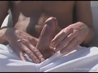 Blond Boy Shane Scott Jerks Off Outdoors