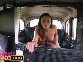 Female Fake Taxi Heist makes sexy driver horny for a good fucking in cab