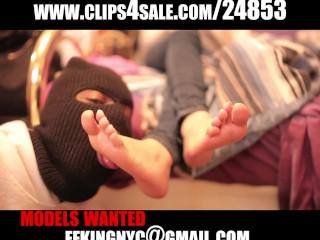 Sexy Asian feet worship