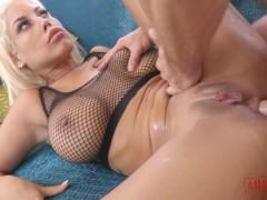 Huge Boobs MILF Slut Wife Bridgette B Anal BDSM Slave For Big White Cock
