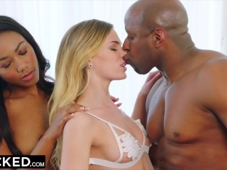 BLACKED Hot Black couple with young girl