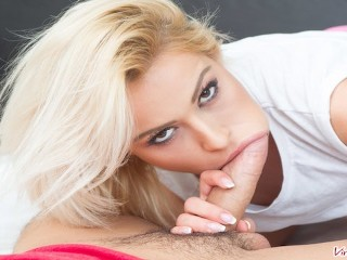 VIRTUAL TABOO - Spying Of Young Blonde Stepsis Turns Into Hard Fucking