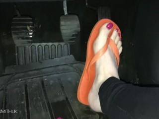 Flip Flops Barefoot Pedal pumping Custom