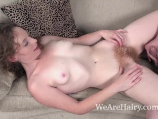 Ana Molly enjoys hard sex in her living room