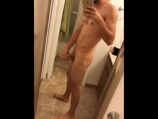 Bathroom jerk pt.2