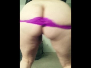 Purple thong phat ass