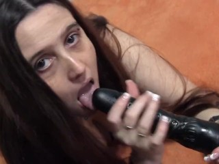Sucking Big Dildo because I can :)