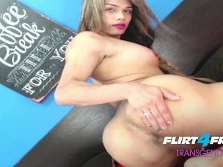 Valen Jugar on Flirt4Free Transgender - Hot Tgirl Spreads Her Ass and Jerks