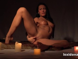 Lexidona - Stunning Lexi masturbates while surrounded by candles