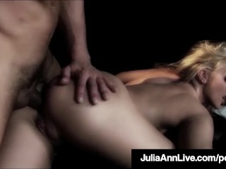 the milf queen julia ann is sodomized on stage!
