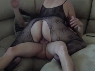 Husband catches wife playing with herself...