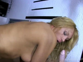 Horny Blonde Needs More And More Cock