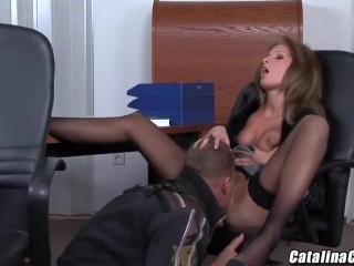 Lauryn May takes meat in her ass and then tastes it