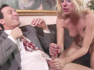 petite blonde milf cheats on husband with hard cock of boss