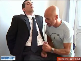 Gyome Handsome hetero guy's big dick to touch in spite of him.
