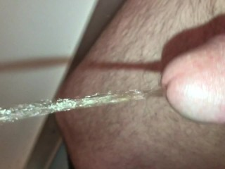 HD Straight 18 Year Old - Masturbating Pissing While Hard Cumshot Close Up