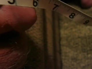 Measuring Big Limp White Cock