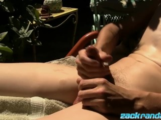 Hot outdoor jack off with sexy twink stud Henry Cockstrong
