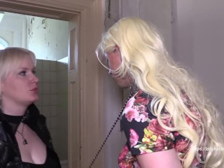 Whore training on public toilet - watch full clip on ladykarame.net