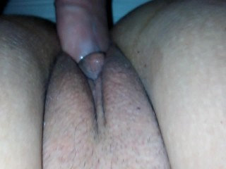 Cameltoe Fuck POV His AND Her View ! Close Up Amateur Milf Creampied