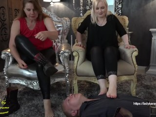 We will stuff your slave whole! - watch full clip on ladykarame.net