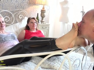 Sniff our smelly feet - watch full clip at ladykarame.com