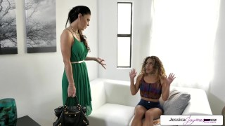 Preview 3 of Spizoo - Liv Revamped and her step mother Jessica Jaymes fuck a big dick