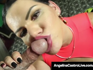 Cuban Queen Angelina Castro Gets A Huge Load Of Cum On Face!