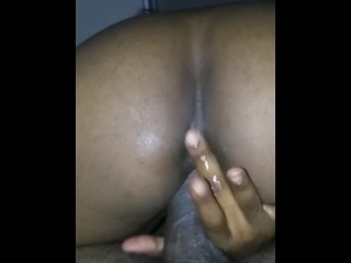 Riding to an amazing wet orgasm
