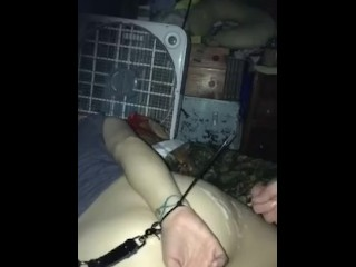 Restrained/bf comes on my ass