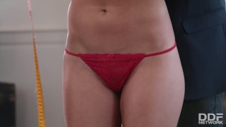 Preview 2 of Sexy fitness slut fucks her clothing designers brains out