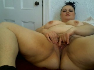 BBW Sadie sexy masturbation to orgasm dildo hitachi