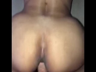 Wife backing her fat ass up