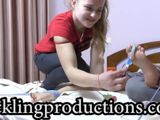 Ticklingproductions.com - Tickling galina part 3 - my turn + her feet